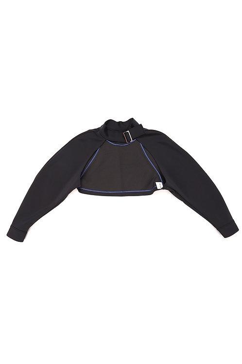 SUGI Neoprene Neck Belt Cropped Jacket