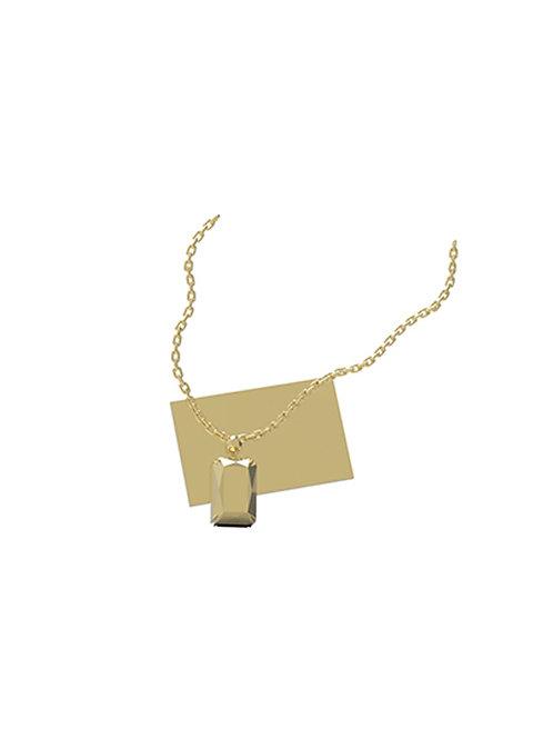51 E JOHN Vacuum Collection Embossing Diamond Necklace  (L) 059