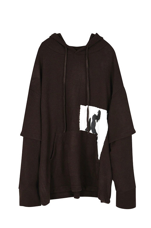 Lonely Man Hooded Layered Knit