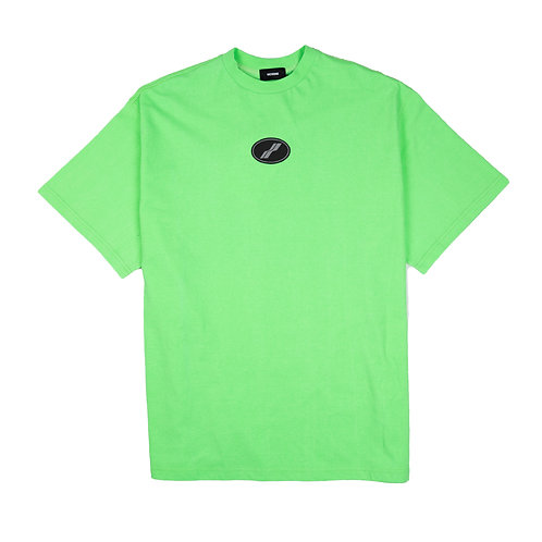 WE11DONE Dirty Patch Tee Green
