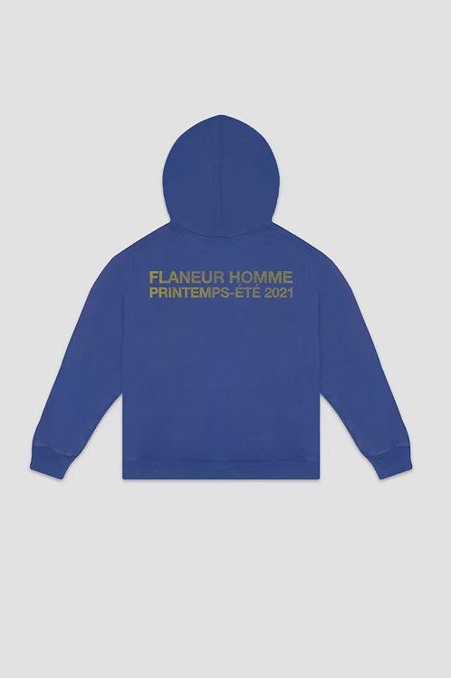 FLANEUR HOMME Purple Printemps Vintage Zip Hoodie