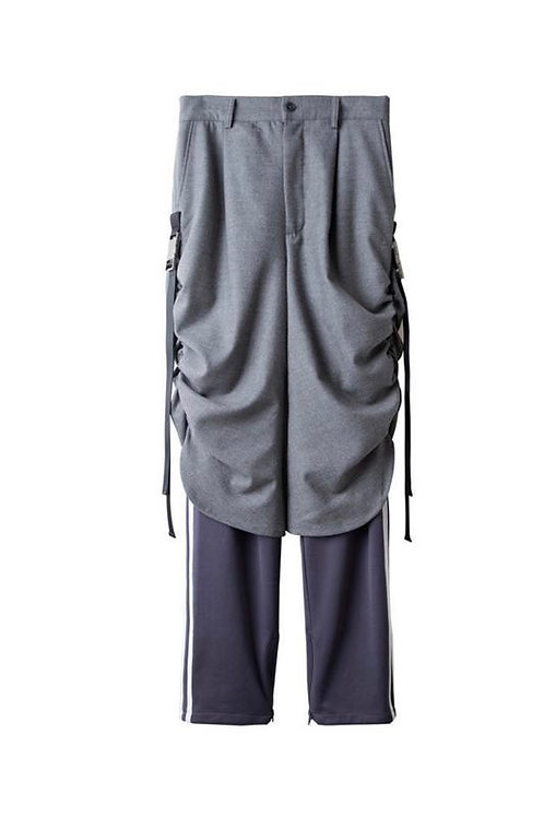 SUNDAY OFF CLUB Western Trousers Splicing track pants