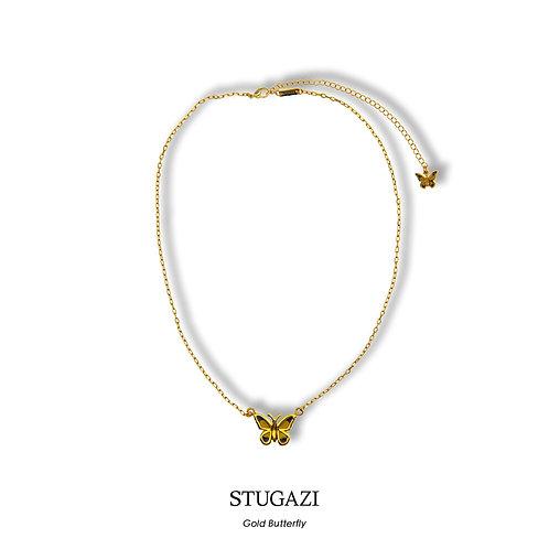 STUGAZI Butterfly Yellow Thin Necklace