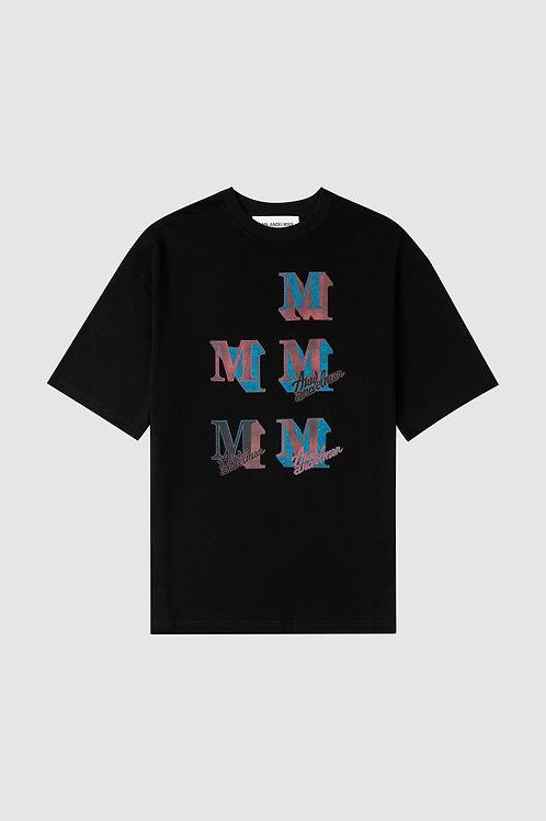 ANN ANDELMAN Black M Letter T Shirt
