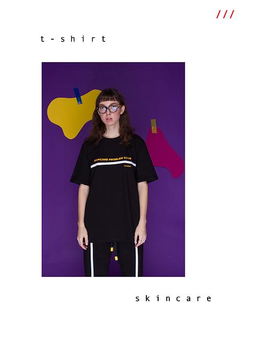 "E404 ""SKIN CARE"" T-Shirt / Yellow & Black"