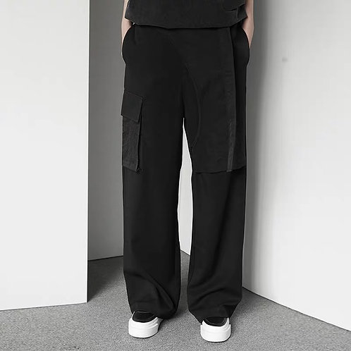 The Dirty Collection 4.0 Irregular front belt slacks straights
