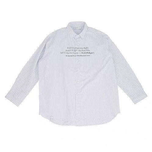 """ATTEMPT """"Dada Manifesto"""" Striped Shirt"""