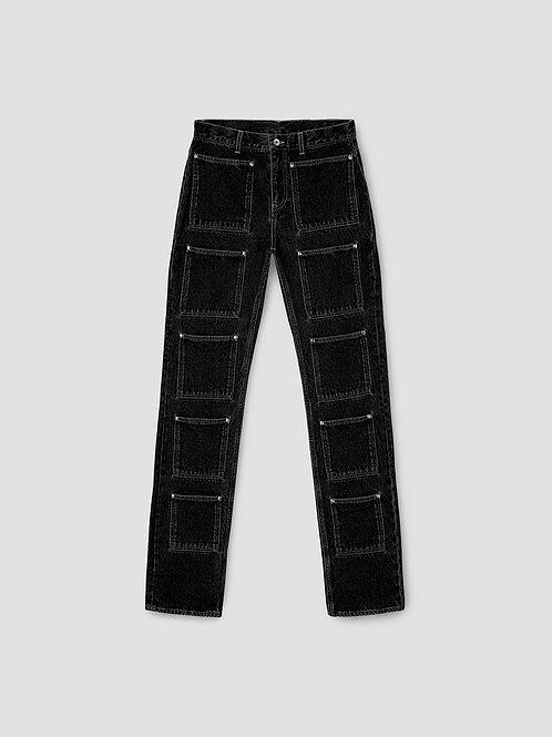 LOURDES Multi-pocket Denim Pants