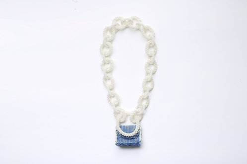 LAURENCE AND CHICO Laulau Chichi Jacquard Bag, Mini Rectangle - Pearl Chain