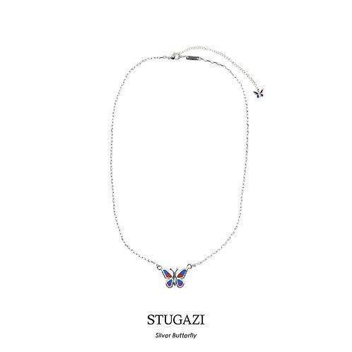 STUGAZI  Butterfly Silver Necklace