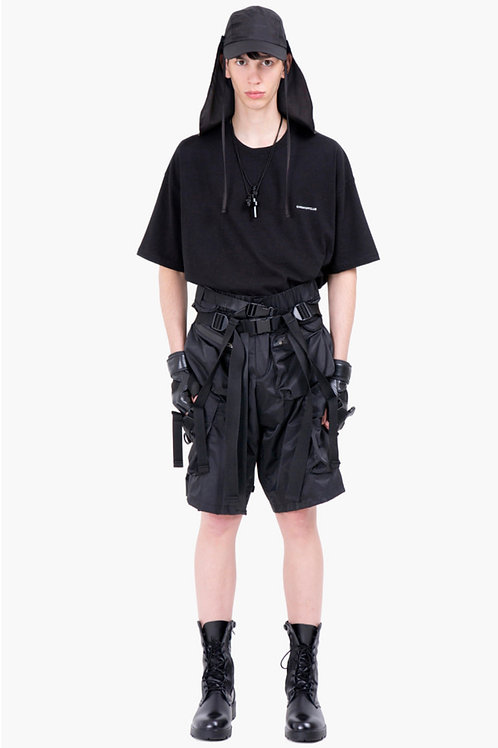 SUNDAY OFF CLUB Obi Belt Detail Cargo Pocket Shorts