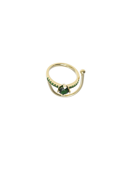 51 E JOHN Deconstruction Collection Yellow Gold Multi-wear Ring 026-2