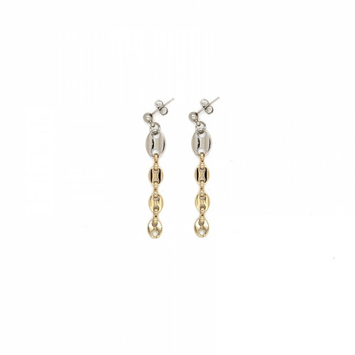 JUSTINE CLENQUET Joy Earrings_Palladium and Pale gold
