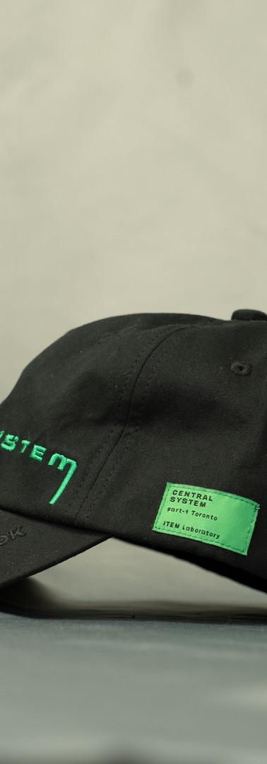 CENTRAL SYSTEM / TWILL CAP / BLACK