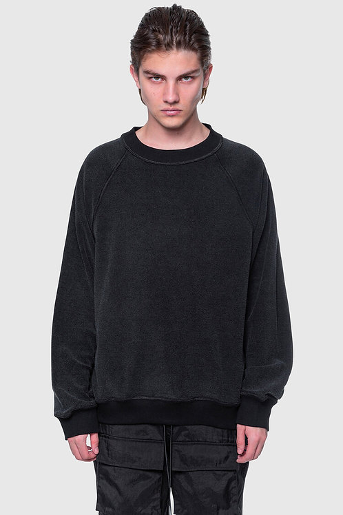 ARNODEFRANCE Inside-out Crewneck Vintage Black