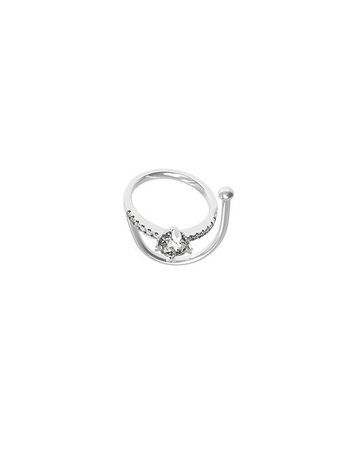 51 E JOHN Deconstruction Collection White Gold Multi-wear  Ring 026-1