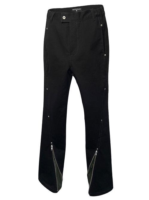 NEXTDOORLIPS Twisted Zipper Box Pants Black