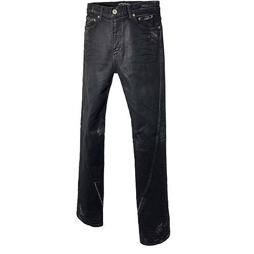 NEXTDOORSLIP Twisted White Embo Coated Jean