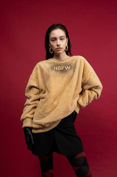 NIGHT FLOW Death Spread Knit Sweatshirt