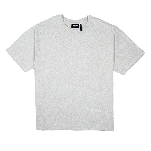 ESSENTIALS Grey Reflective Logo T Shirt