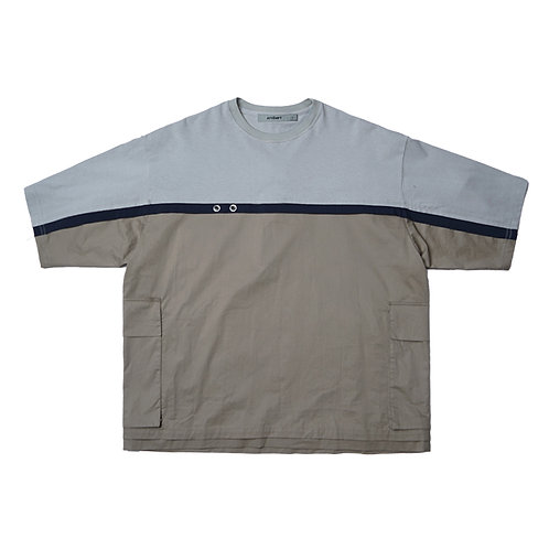 ATTEMPT SS18 SOLID MUTI-POCKET OVERSIZED T-SHIRT