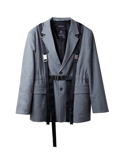 SUNDAY OFF CLUB ULTILITY STRAPPED BLAZER
