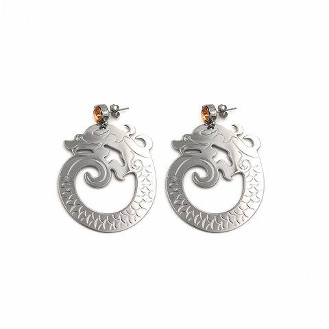 Justine Clenquet Aoki Palladium Earrings