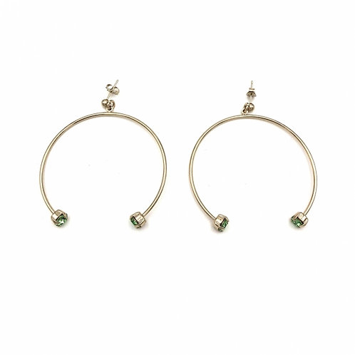 JUSTINE CLENQUET Gogo Gold Earrings
