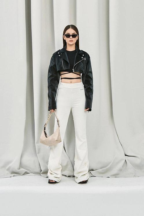 ANN ANDELMAN Crop Leather Jacket