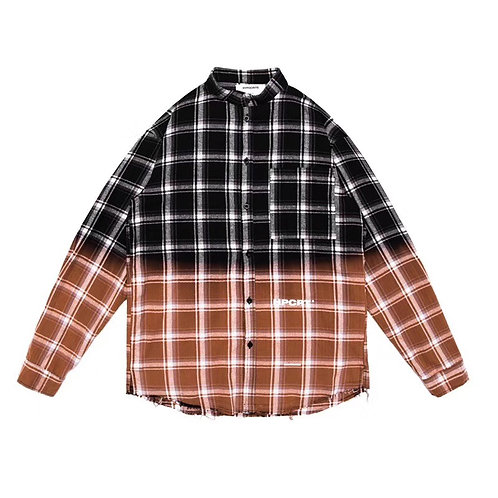 HYPOCRITE FW18 BLEACHED PLAID SHIRT