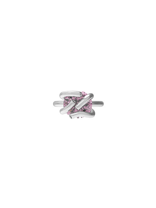 51 E JOHN Deconstructed Collection Ellipse StoneTwisted Prongs Ring 031