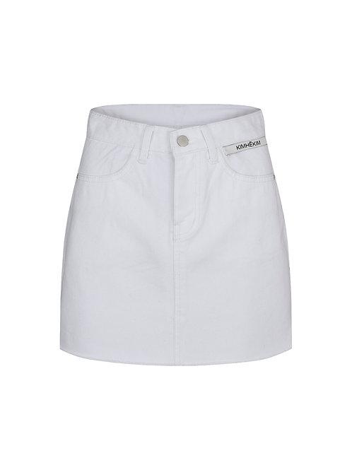 KIMHEKIM Label Denim Mini skirt