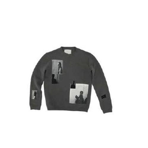 HELIOT EMIL Knit Sweater W. Screen Prints