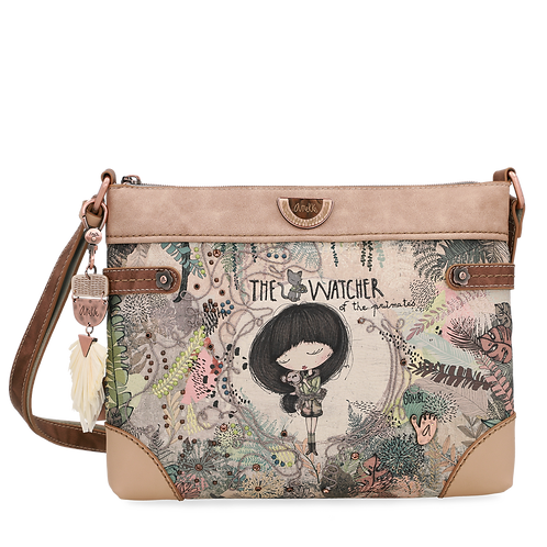 BOLSO BANDOLERA PLANO ESTAMPADO ANEKKE JUNGLE