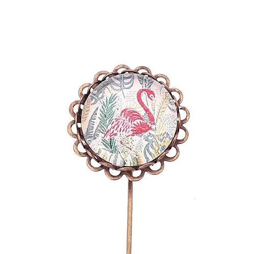 BROCHE ALFILER BISUTERIA ILUSTRADA FLAMENCO