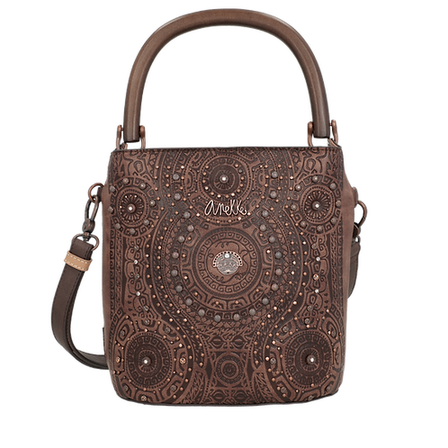 MINI BOLSO BANDOLERA SHOULDER ANEKKE IXCHEL CALENDARIO MARRON 32712-01-140