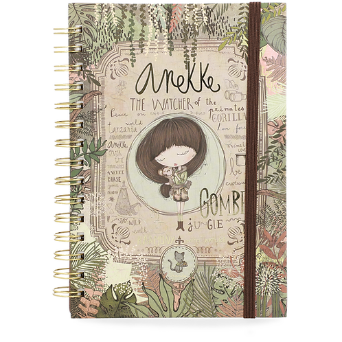 LIBRETA ANILLAS A5 ESTAMPADA ANEKKE JUNGLE