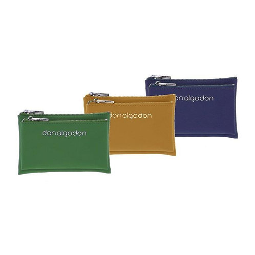 CARTERA DOS DEPARTAMENTOS RECTANGULAR DON ALGODÓN