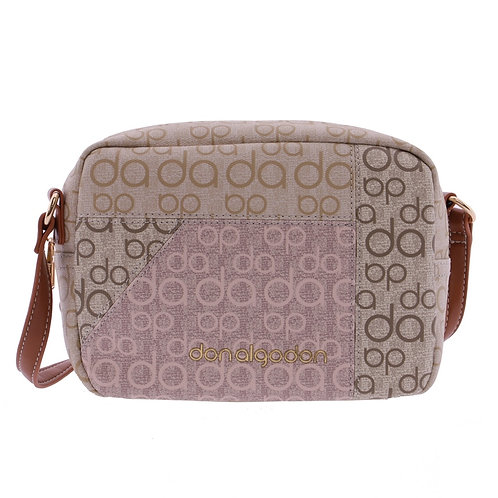 BOLSO BANDOLERA SHOULDER ESTAMPADO LOGO DON ALGODON