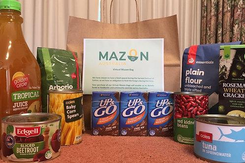 Virtual MazonBag filled with non-perishable items