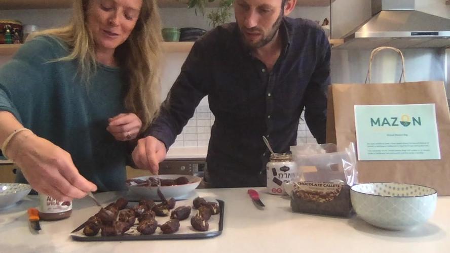 Emma and Marc Light make a Sukkot treat