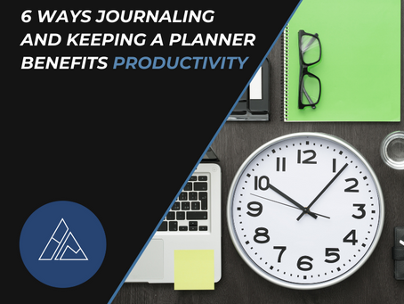 6 Ways Journaling and Keeping a Planner Benefits Productivity