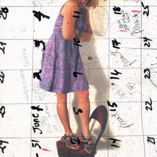 Arms Crossed on a Chair - calendar girl
