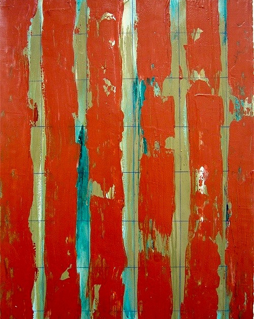 Sage Terracotta Stripes