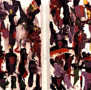 Color of Pansies - diptych