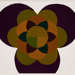 Mandala in 2ndary triad 2 [orange, violet and green]