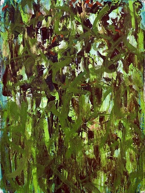 Oak Caps - Through the Trees - acrylic on paper