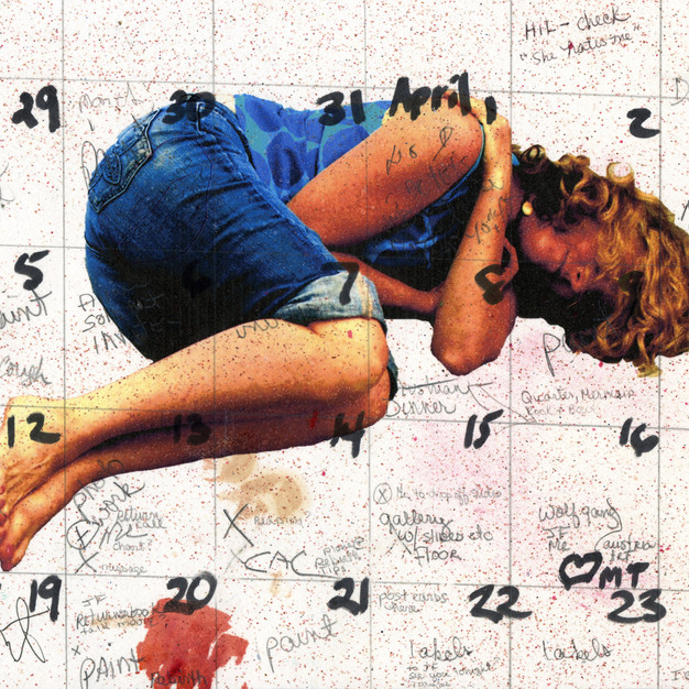On the Floor, lying down – calendar girl