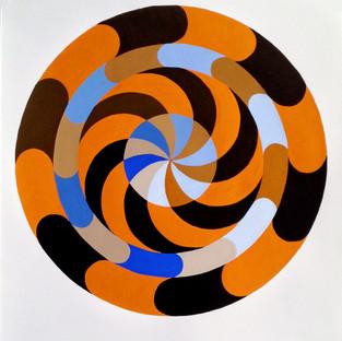 Mandala in Orange and Blue