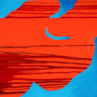 Untitled on Blue and Red